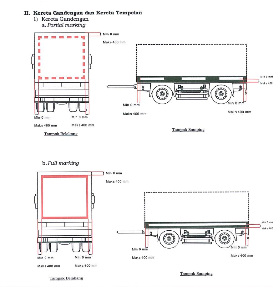 Alat pemantul cahaya tambahan pada Kereta Gandengan